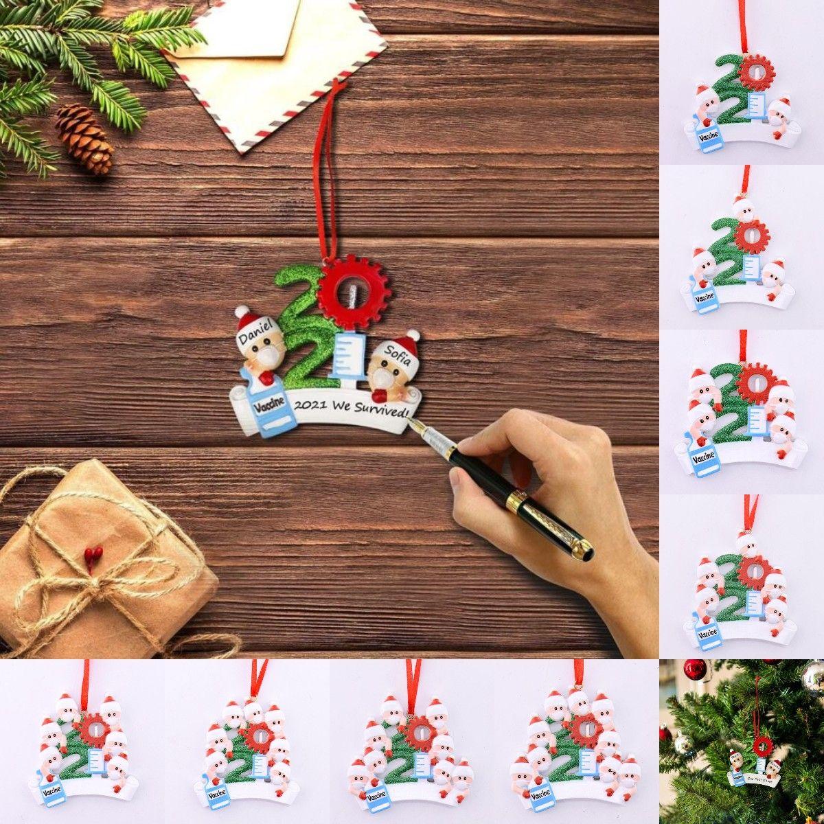 2021 Nueva cuarentena navidad cumpleaños fiesta decoración del partido producto de regalo personalizado ornamento colgante pandémico -social distancing-familia 1-9 cabezas