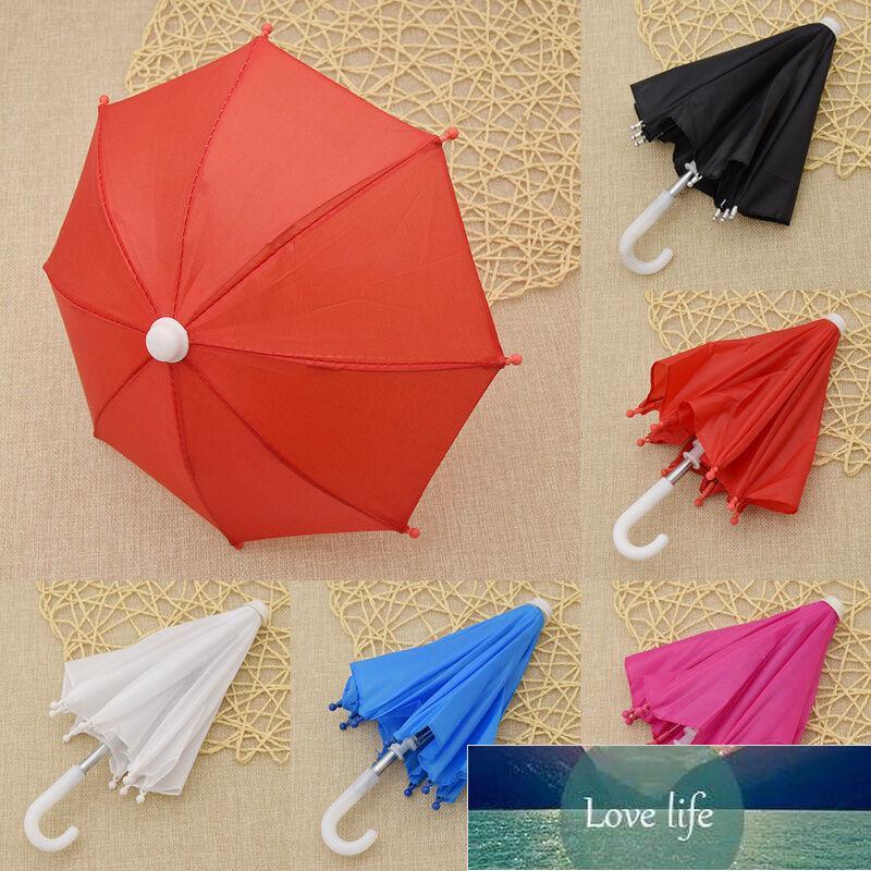 1PC 18inch 인형 집 여자에 대 한 장난감 장식에 대 한 미니 우산 비 기어 다채로운 우산 인형의 소모품