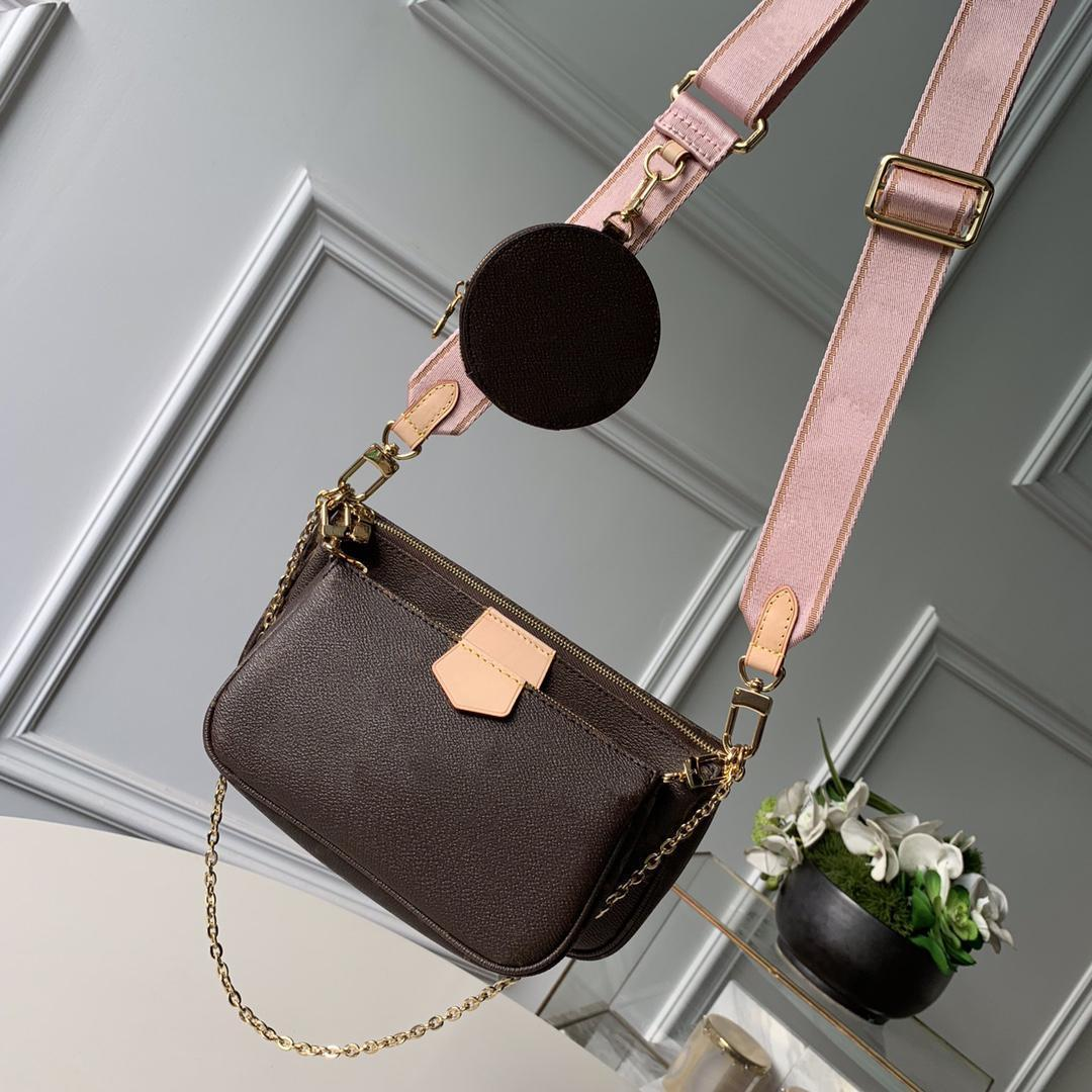 Favorito Multi Pochette Acessórios Bolsa Bolsa de Couro Genuíno Ombro Crossbody Bag Bolsas 3 Pcs Bolsas Bolsas