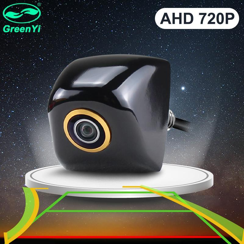 Vue arrière Vue arrière Caméras Capteurs de stationnement Greenyi Ahd 1280 * 720p Upside Down Installation Golden Lens Dynamic Trajectory Guide Lignes de guidage Inverser Sauvegarde C