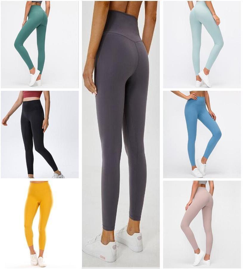 Femmes Fitness Wear Summer LU 32 Couleur unie Aligner Leggings Femme Designers Sports Gym Vêtements Taille haute respirant élastique Collants Pantalon de yoga Pantalon