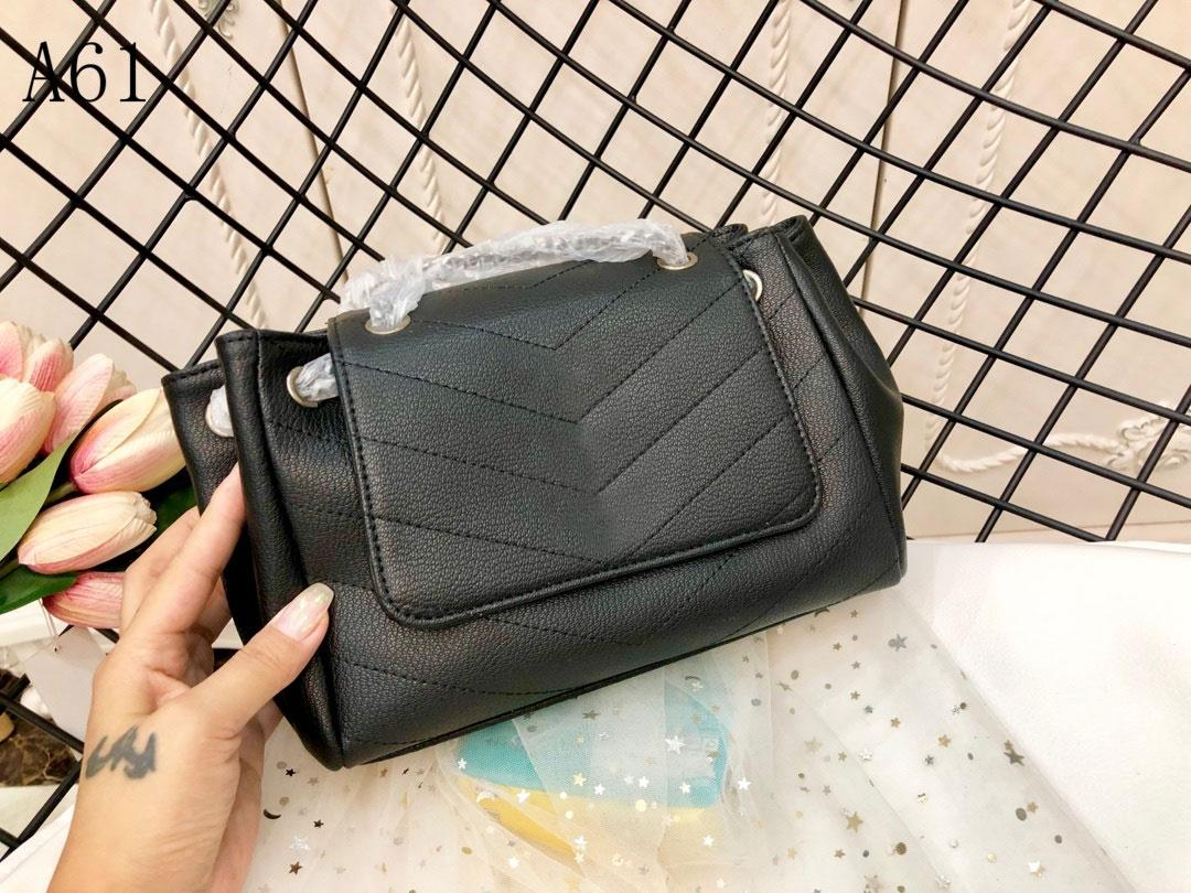 Top Quality designer women Luxury handbags bags Genuine Leather stripe square Metal chain womens handbag large capacity Buckles Fashion shoulder bag Black 1017
