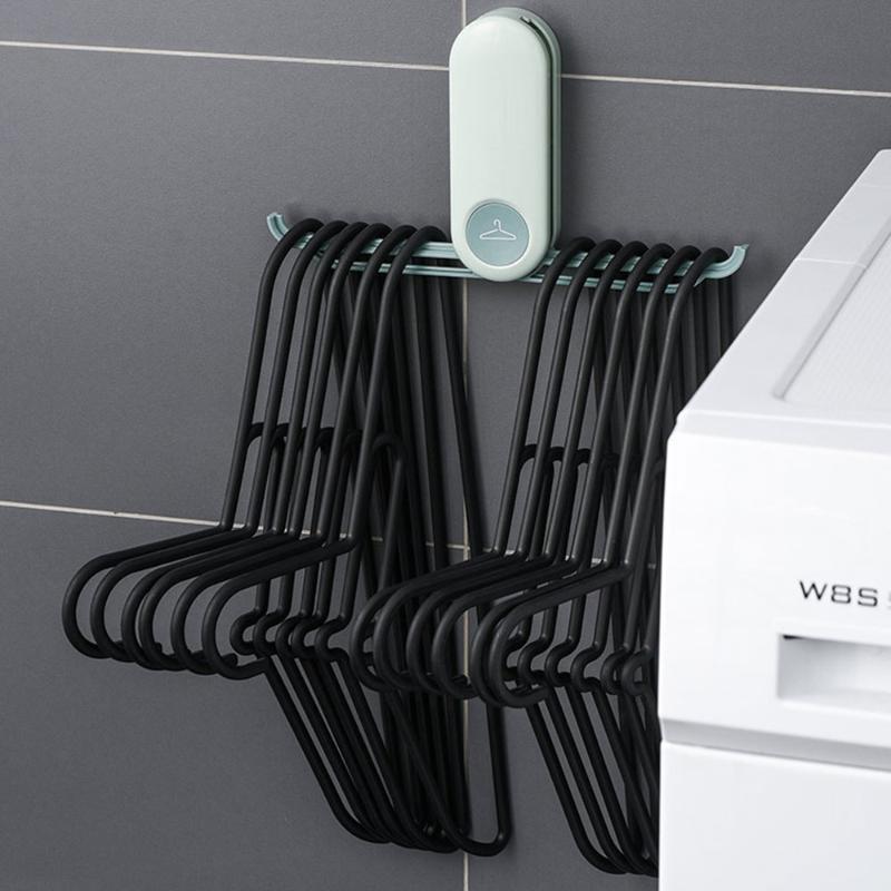 Cabide dobrável cabide de armazenamento secador de secagem de secagem antiderrapante parede livre de parede pendurado cabides