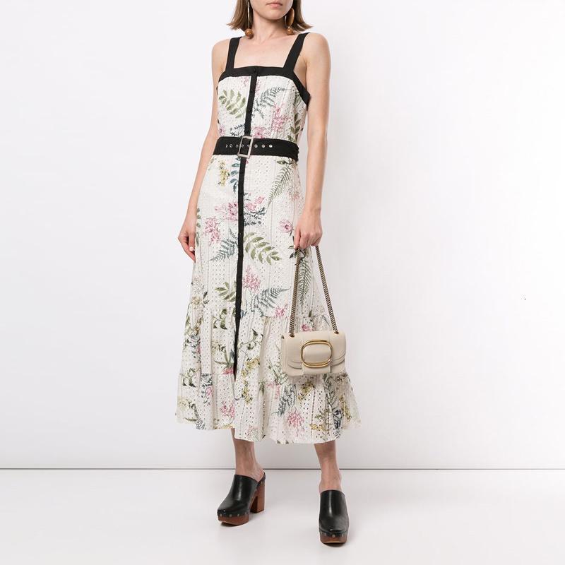 Elbiseler Hwaii Kadınlar Tatil 2021 Yaz Çiçek Tankı Oymak Uzun Kolsuz Straplez Düz Tatil Kemer Ile Düz Tatil Elbise