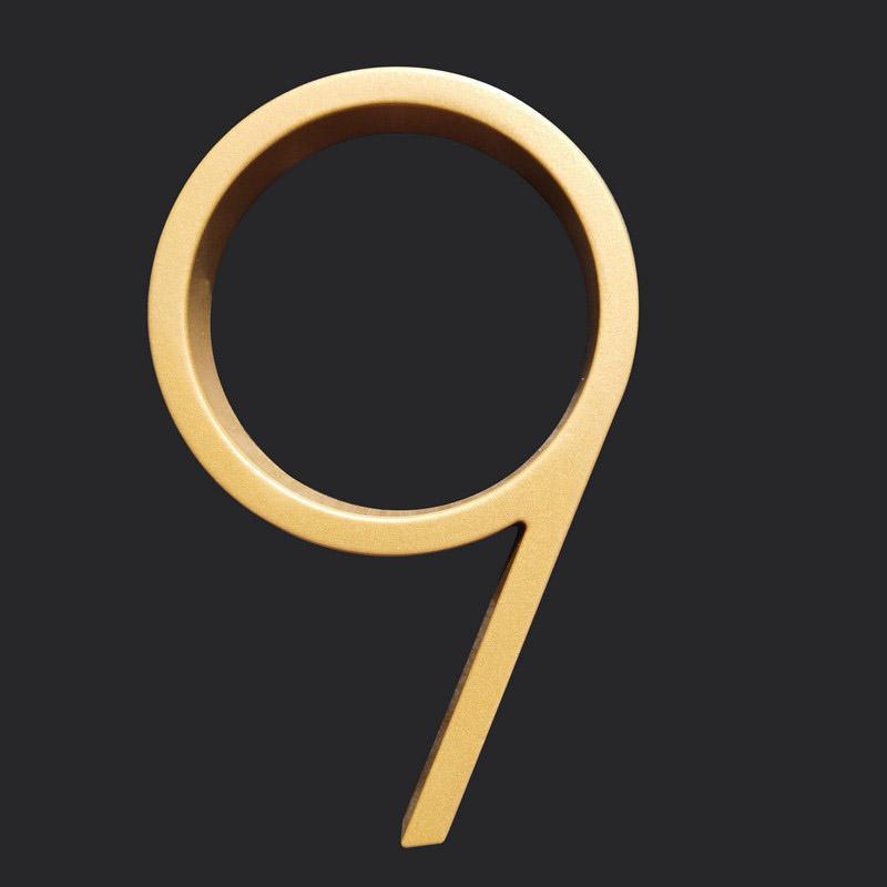 127mm 갈색 golfloating 현대 집 번호 문 디지털 야외 기호 5에 대 한 집 주소 번호 5 in. # 9 기타 하드웨어