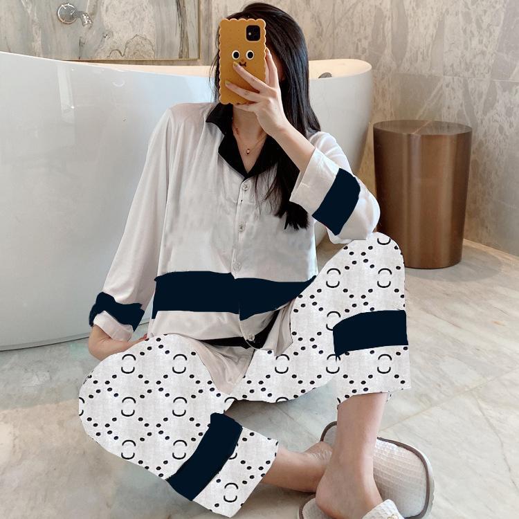 Casual letras de dormir ropa de dormir suave toque terciopelo pijamas conjunto mujeres manga larga cardigan coches clásico camisón instinto