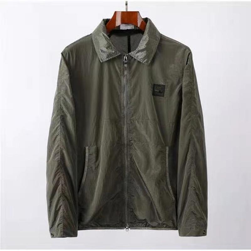CPTOPSTONEY 메탈릭 나일론 반사 형 남성 재킷 가벼운 기능적 자켓 커플 코트 유럽 및 미국 레저 스타일