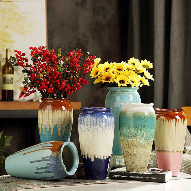 Vase ceramic modern minimalist table decoration ornaments living room dried flower porcelain hydroponic pottery