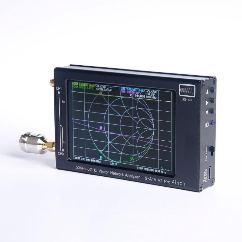 S-A-a 4 pollici Touch Screen Nanovna V2 Pro Vector Network Analyzer Antenna 50KHZ-3GHZ con 0.5ppm TCXO Radio