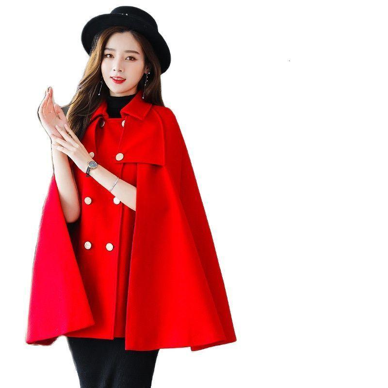 2021 Casaco de l Feminino Pelé Sinttica Xale com Capuz Capa Ponchos e Capas Poncho Mulher Blusa