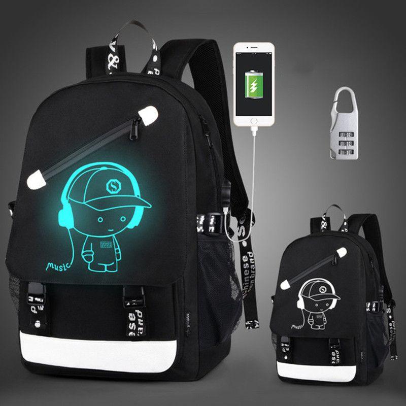 School Bags Boys Anti thief Children Girl Hight Quality Luminous School Backpack Teenager Waterproof Kids Bag Port