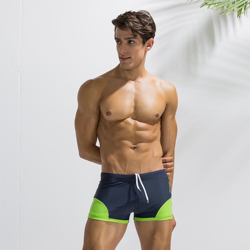 Produkte Männer Strand Shorts Tasche Schnell trockener Boxer Slip Sommer Solide Farben Elastische Taille Männer