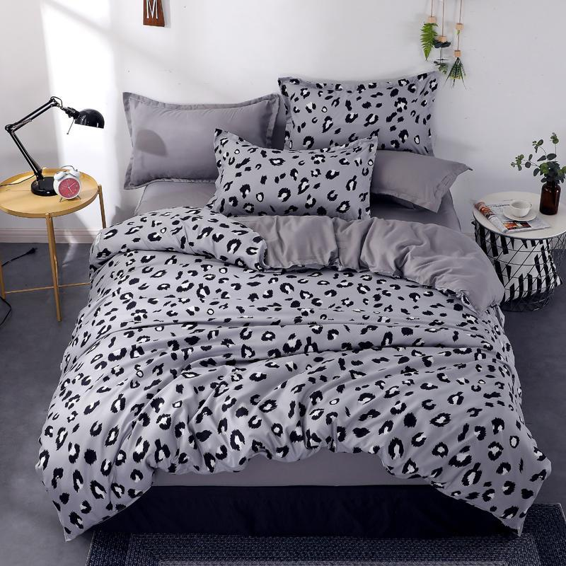 Leopard Printed Bedding Set Duvet Cover Flat Sheet Pillowcase Bedclothes Bed Linen Quilt Covers Single Twin Queen King Sets