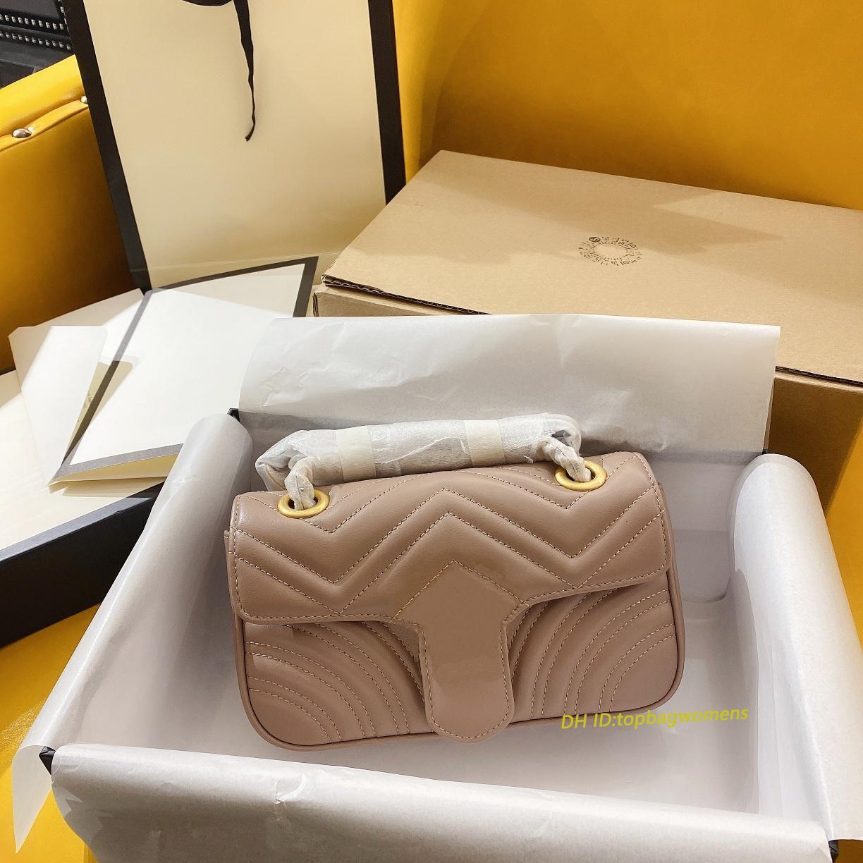 패션 446744 Marmont 여성 Luxurys 디자이너 가방 정품 가죽 여성 지갑 키 카드 지갑 핸드백 메신저 크로스 바디 어깨 가방 totes 배낭
