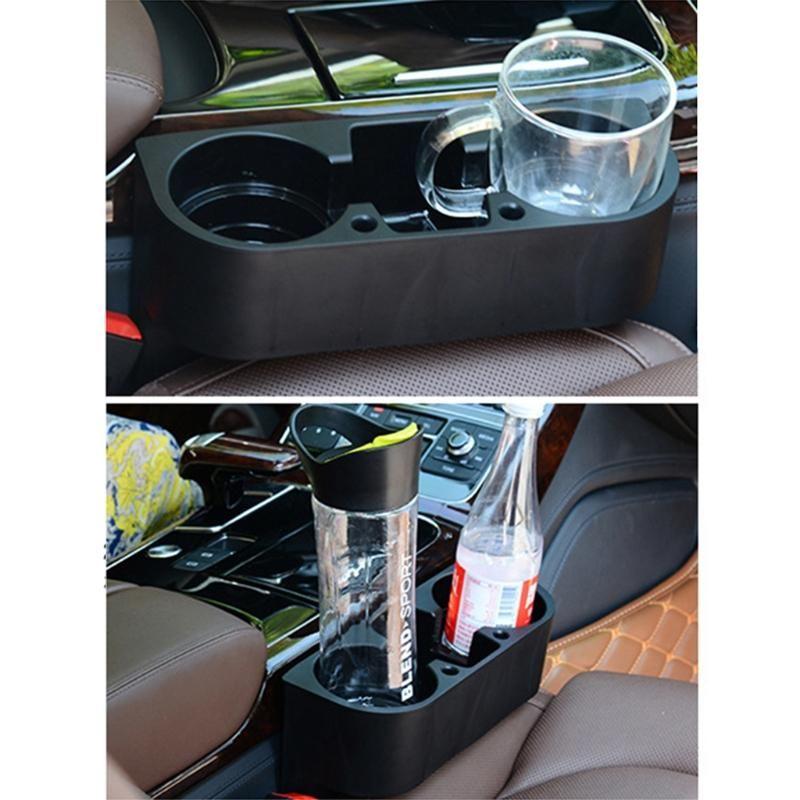 Auto Organizer Automotive Vordersitz Lagerung mit Becherhalterfüller für Zellphones Schlüssel Karten Brieftaschen F19A