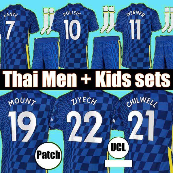 تايلاند 20 21 22 22 pulisic kante havertz جبل كرة القدم جيرسي 2021 2022 تشيلويل زيech فيرنر camiseta دي كرة القدم الرجال أطقم قميص أعلى الزي الرسمي