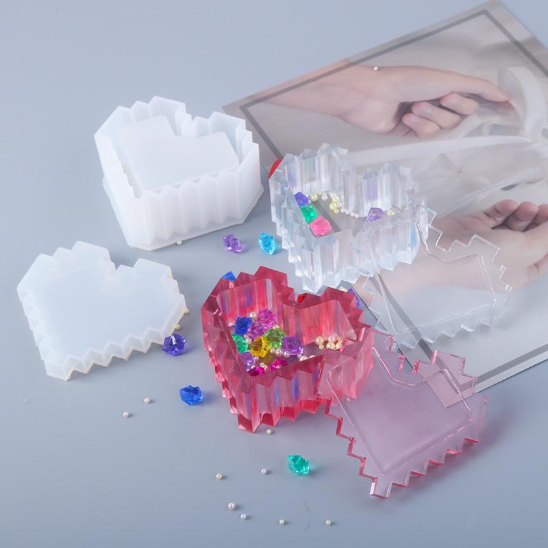 2021 DIY mold type love storage box silicone-mold making mirror