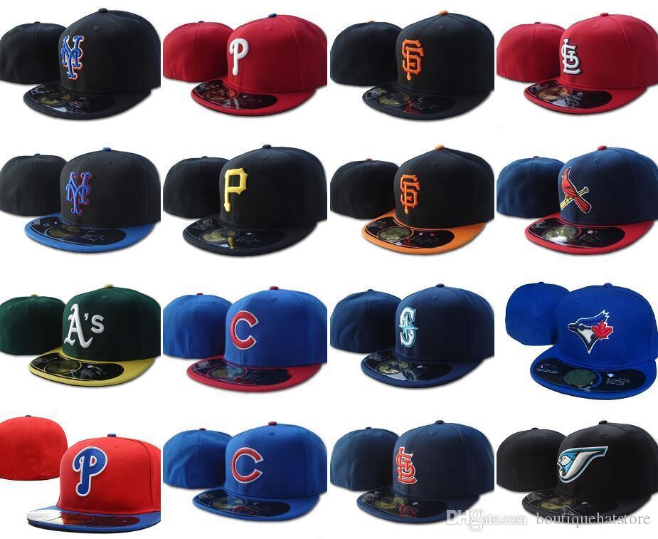 Wholesale хорошее качество Все команда Toronto бейсбол встроенные шляпы гигантов SF Нью-Йорк мужские полные замкнутые плоские козыреящиеся рейнджеры на полевой шапке