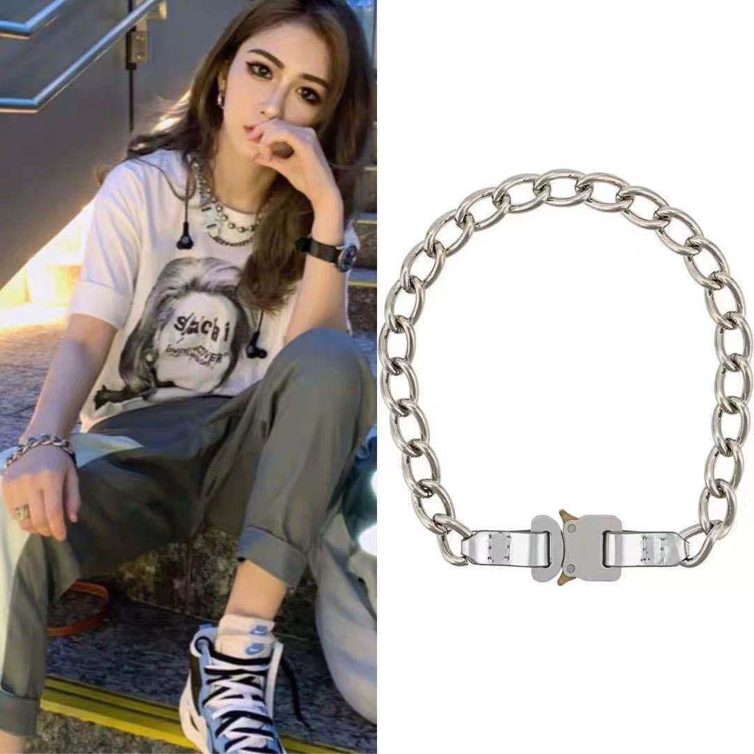 version 1017 Correct alyx 9SM functional Cuban Necklace 2020s heavy industry titanium steel chain for men and women