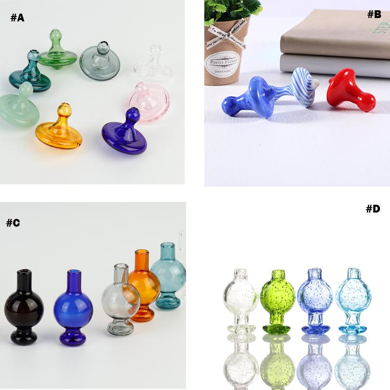 Berretto da spinning carboidrati direzionali in vetro fumante in vetro bolla di carbonato di circa 26,5 mm od con foro d'aria per impianti di petrolio da 25 mm al quarzo Banger