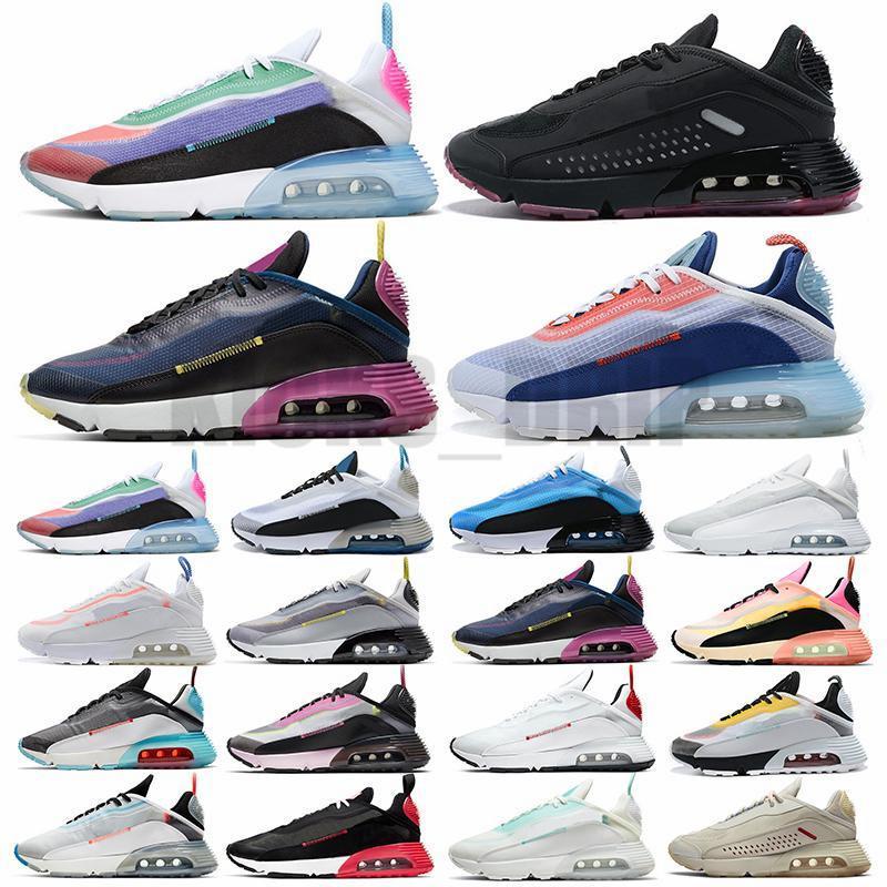 2090 رجل الاحذية 2090s الرجال النساء مدرب يكون صحيح بطة كامو أسود تعكس الفضة الأزياء الفضي في الهواء الطلق الرياضة أحذية رياضية مع الجوارب العلامات