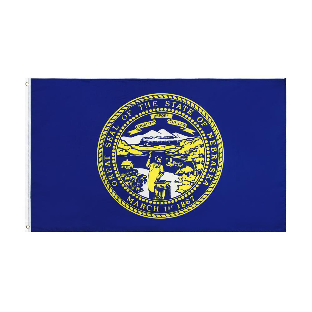 Drapeau du Nebraska en gros LibreShaming Stock Direct Factory suspendu 90x150cm 3x5ft