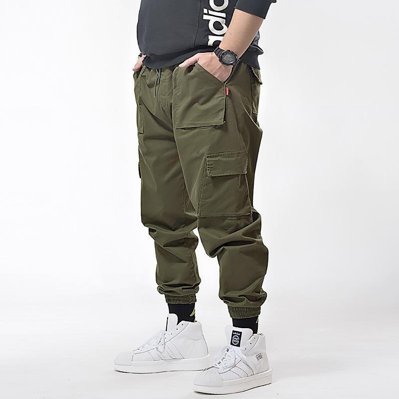 Erkek Pantolon Artı Boyutu Erkek Jogger Kalça Rahat Pantolon Harem Erkekler Kamuflaj Askeri Gevşek Rahat Kargo Pantolon Joggers 7XL
