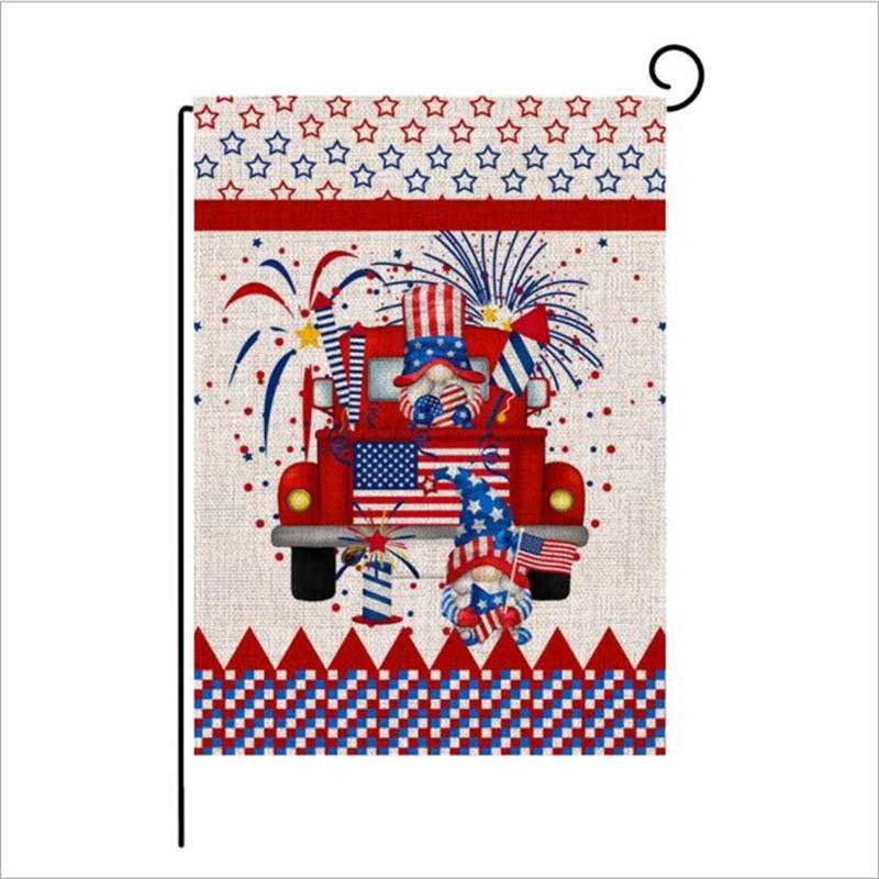 47 * 32 cm Independence Day Bandiera Giardino Bandiera Doppia stampa Primavera e Estate Benvenuto Brief Beds JJA140 Mare Shipping