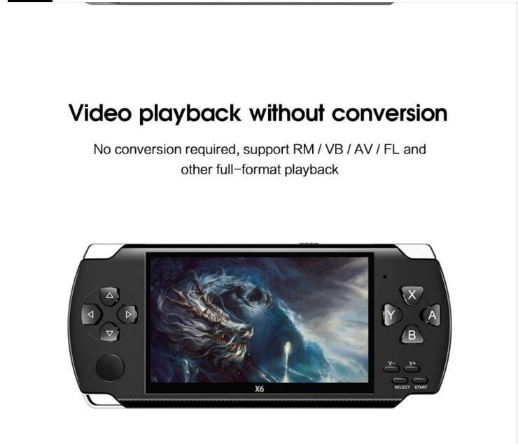 4.3 Inch Handheld Portable Console Dual Joystick 8GB Preloaded 10000 Free Games Support TV Out Video Game Machine