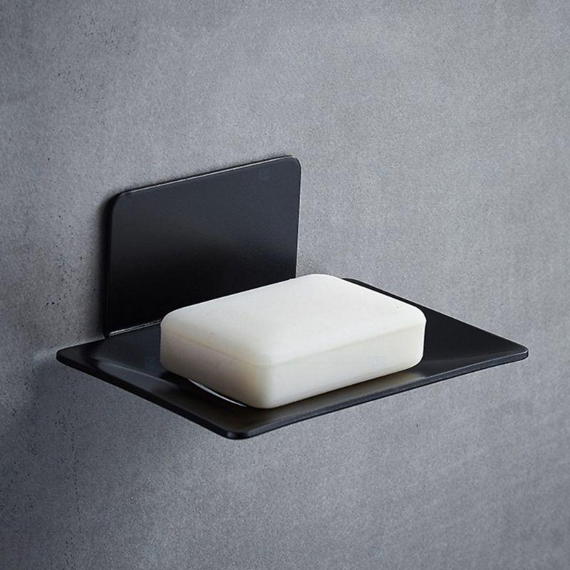 Stainless Steel Bathroom Soap Dish Wall Mounted Hole Free Container Box Accessories Dishes