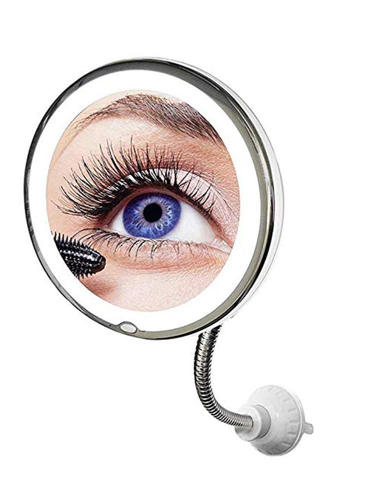 Auto universale 10x Trucco a specchio LED Trucco flessibile Legno illuminato Specchi di vanità con lampada Make Up Miroir altri accessori interni