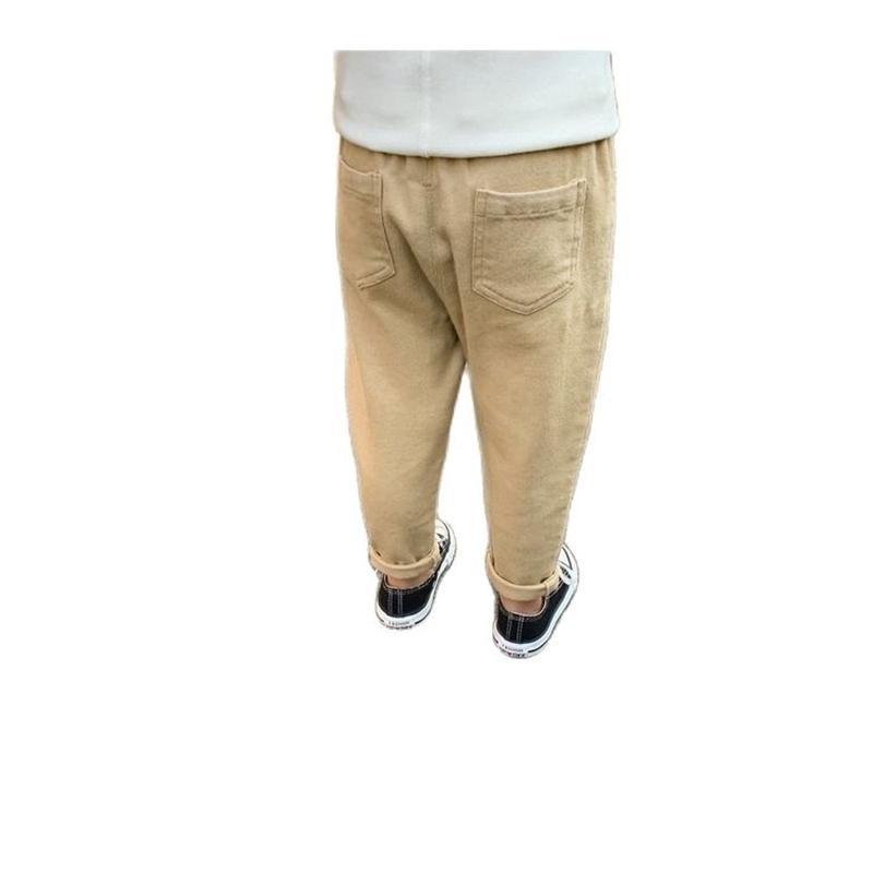 Erkek Pantolon Bahar ve Sonbahar Tüm Maç Çocuk Giyim Pantolon Ayak Bebek Casual P2079 210529