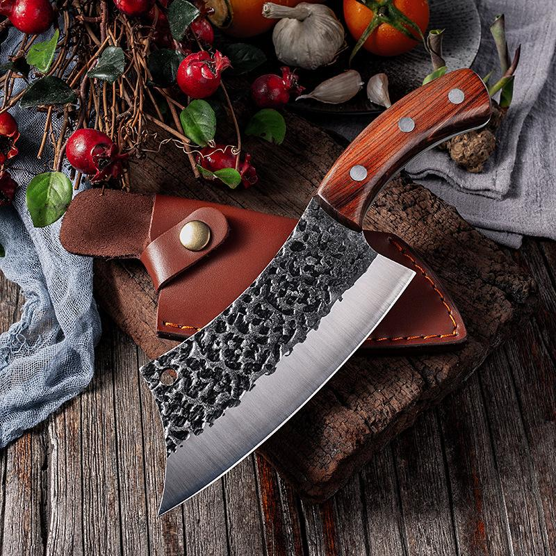 Chun 주방 요리 칼 도살 된 물고기 나이프가 캠핑 휴대용 스테인레스 스틸 야외 칼 보호 케이스 커버를 설정합니다