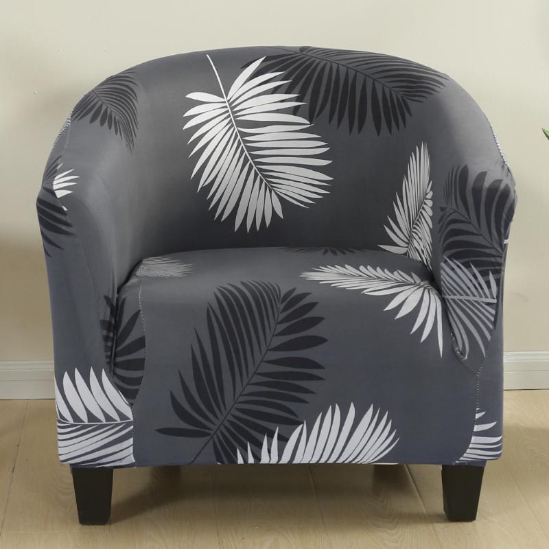 Clubstuhl Slipcover gedruckt Badewanne Cover Stretch Sessel Abdeckungen Sofa Spandex Couch für Barzähler Wohnzimmer