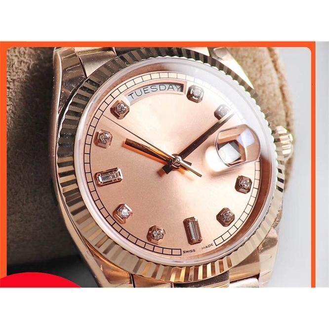 Orologio da donna impermeabile classico di lusso con classico, 36mm Settimana Calendario in acciaio inox Casual Automatic Machine automatico