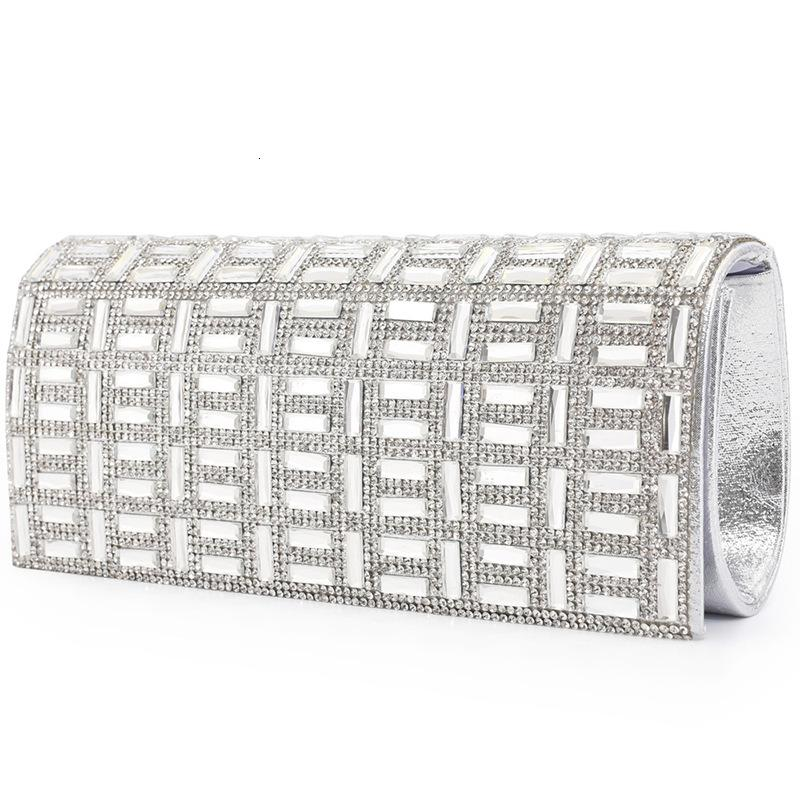 Evening Bags Silver Dinner Party Wedding Fashion Women's autumn and winter style