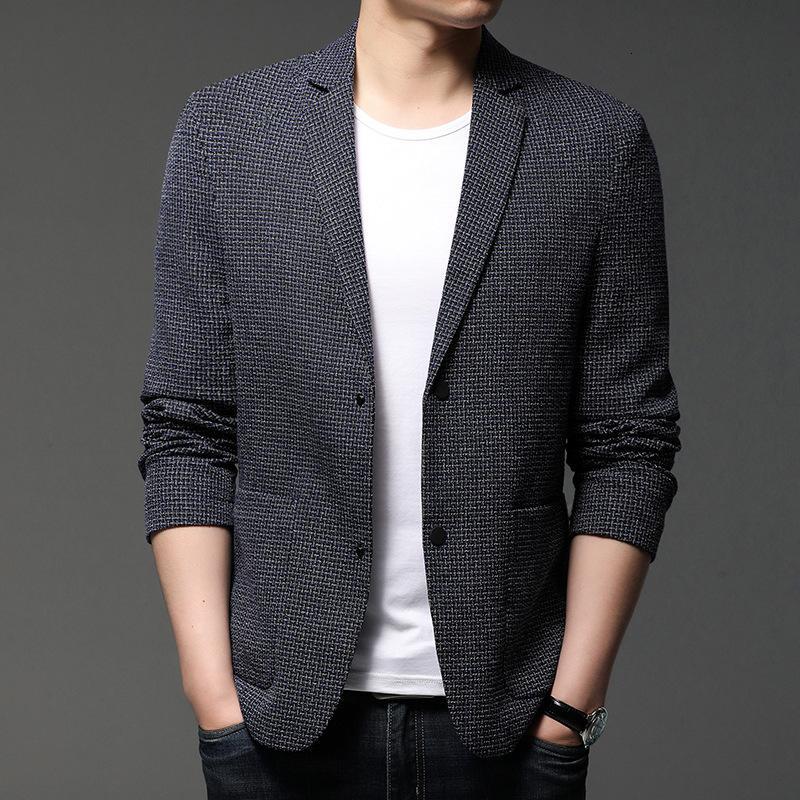 Abiti da uomo Cappotto 2021 Uomo Gioventù Casual Moda Colore Abbinamento Business Tasca Business Trend Suit Top