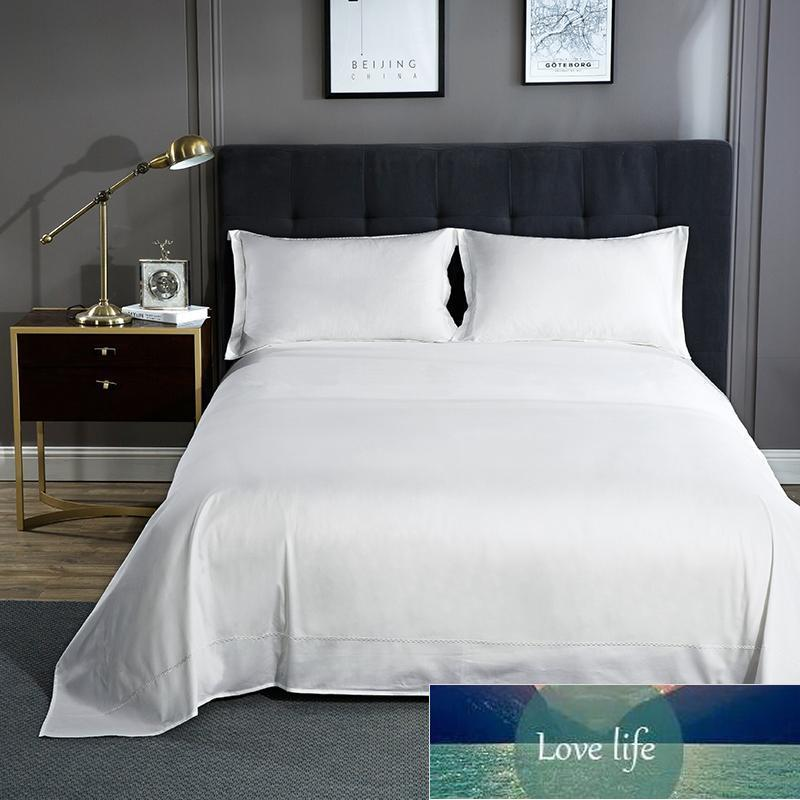 600TC Egyptian Cotton Solid Color Embroidery Bed Sheets Soft Bed Sheet Bedsheet Covers Flat Sheet For Children Adults #sw