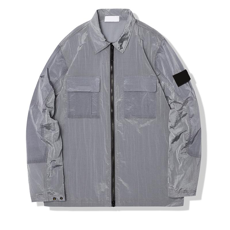 금속 나일론 브랜드 남성 자켓 여름 가벼운 및 얇은 커플 스타일 코트 레저 야외 긴 소매 툴링 겉옷
