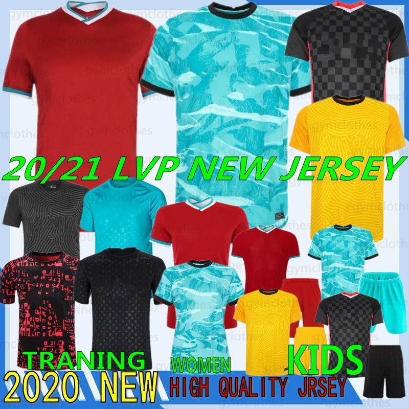 Thai 21/22 Vermelho Exército 11 Mohamed Nova Jerseys de Futebol 10 Mané M. Salah 9 Milner Henderson 4 Keita 12 Gomez Homem Kits Kits Futebol Camisa