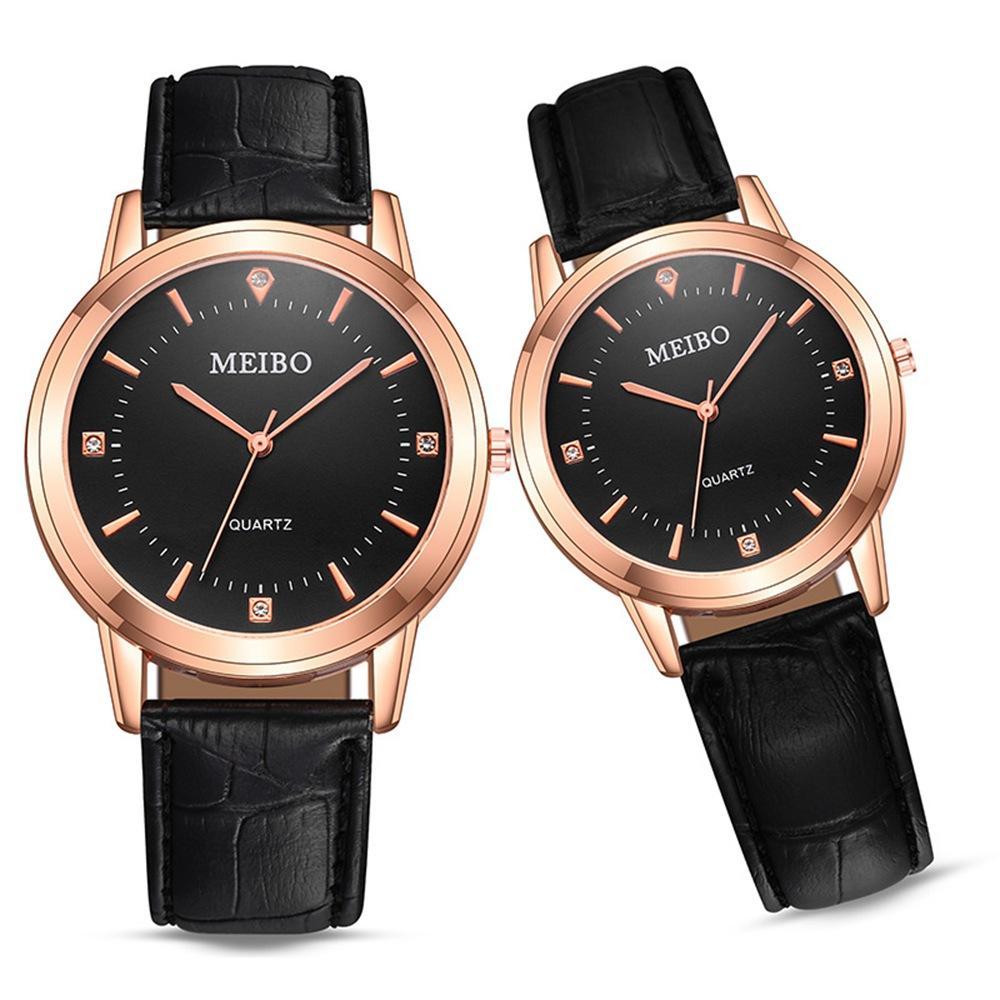 50 stücke Mode Einfache Liebhaber Paare Leder Uhren Unisex Herren Frauen Damen Casual Students Kleid Geschenk Quarz Armbanduhren Uhr
