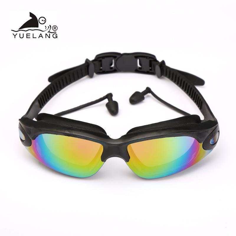 Waterproof Glasses Earplugs Professional Swimming Goggles Adult Silicone Swimming Caps Pool Uv Swimming Goggles Arena bbyKHd