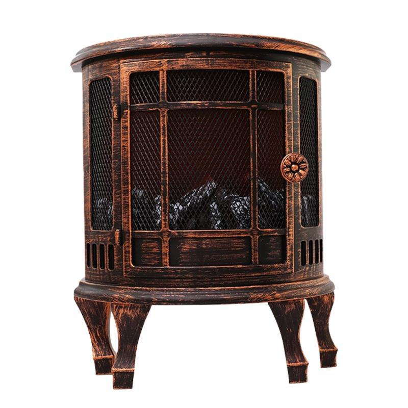 Electric Simulation Fireplace Stove Heater Night Light With Log Burner Flame Effect LED Christmas Ornament Living Room Hom Fragrance Lamps