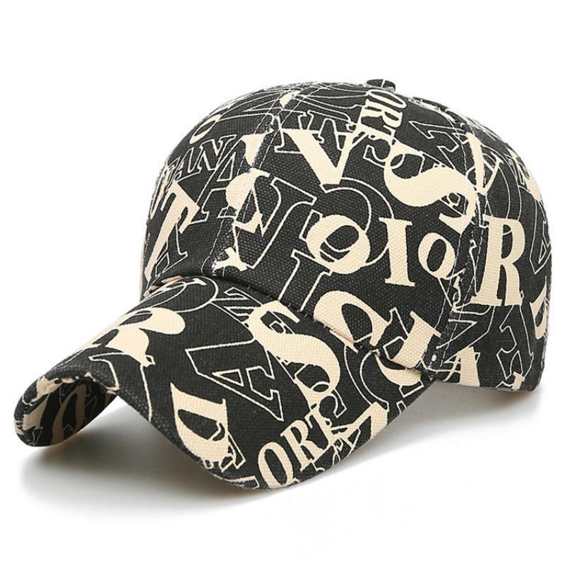 Moda alfabe renk hip hop beyzbol şapkası erkek rahat spor kap tuval güneş koruma şapka kadınlar için