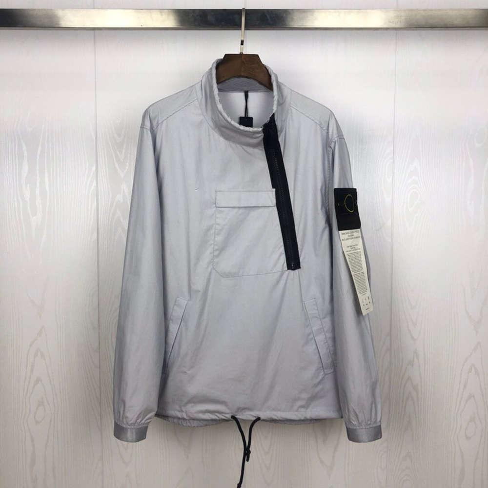 Streetwear Frauen Best Casual Compass Gedruckt SI 2021 Männer Version 1: 1 Windjacke Hiphop Jacke Mantel OIMCW