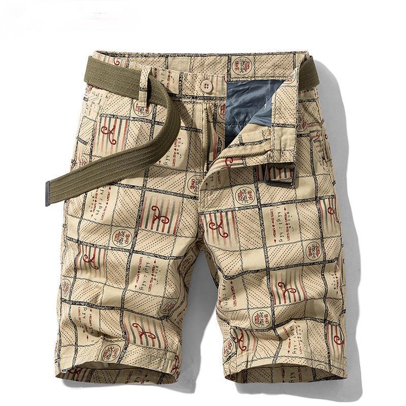 Pantaloncini da uomo Short Homme uomo pantaloni uomo estate metà regolare Casual Casual Tasche solide Stampa allentata