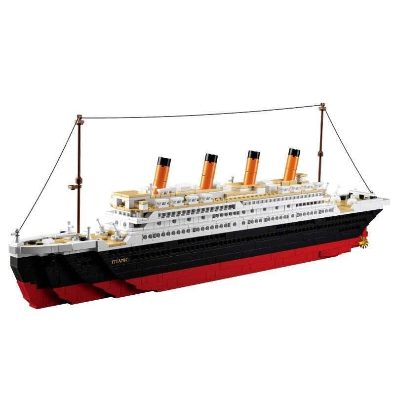 0577 Levining City Titanic RMS Barco De Barco Conjuntos Modelo Kits de Construção Blocos DIY Hobbies Educacional Crianças Brinquedos Crianças Tijolos Y200428