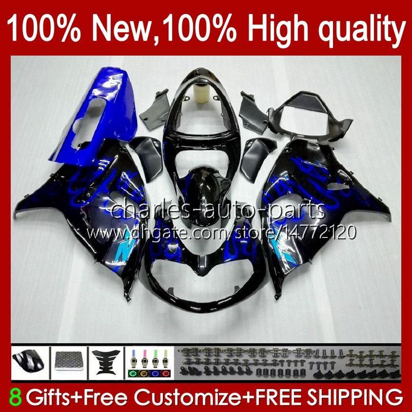 Bodywork For SUZUKI SRAD TL1000R TL 1000R TL1000 R 98 99 00 2001 2002 2003 Body 19HC.9 blue flames TL-1000R 98-03 TL-1000 TL 1000 R 1998 1999 2000 01 02 03 OEM Fairing Kit