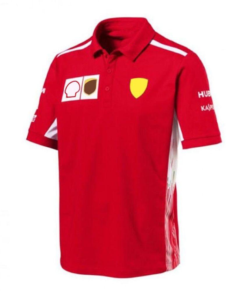 F1 Racing Ferrari Racing Costume Polo Racing Moto-sèche rapide