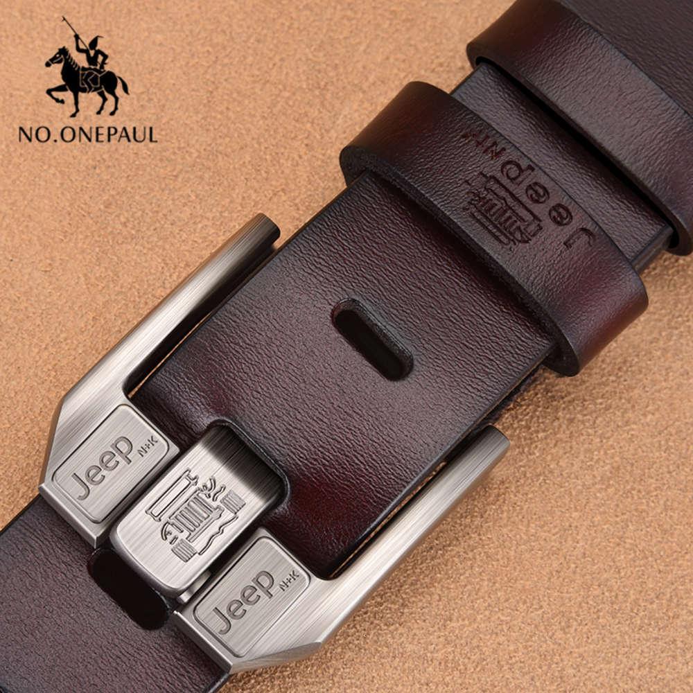 Ninguno. Onepaul real aprender para los hombres de alta calidad jeans negros vaca riemen casual busines bandas bandas de la cola de vaquero59g